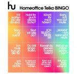 Einladung zum Homeoffice Telko Bingo
